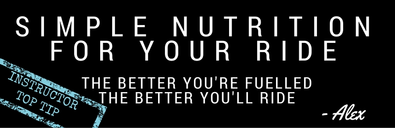 Top Tip: Simple nutrition for your Ride