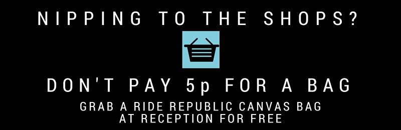 Free Ride Republic canvas bag