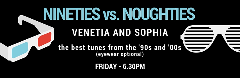 Nineties vs. Noughties theme Ride – Friday @ 6.30pm