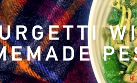 Hungry Romantic: Courgetti with homemade pesto