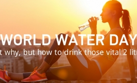 In honour of World Water Day, Instructor Venetia gives us a few tips on hydration.