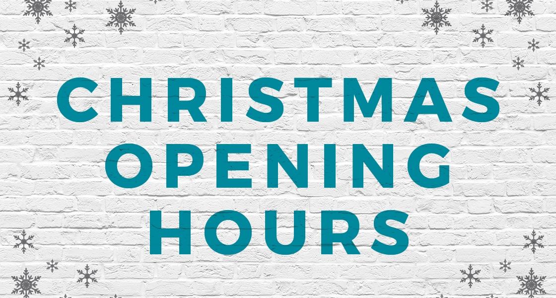 DECEMBER OPENING HOURS