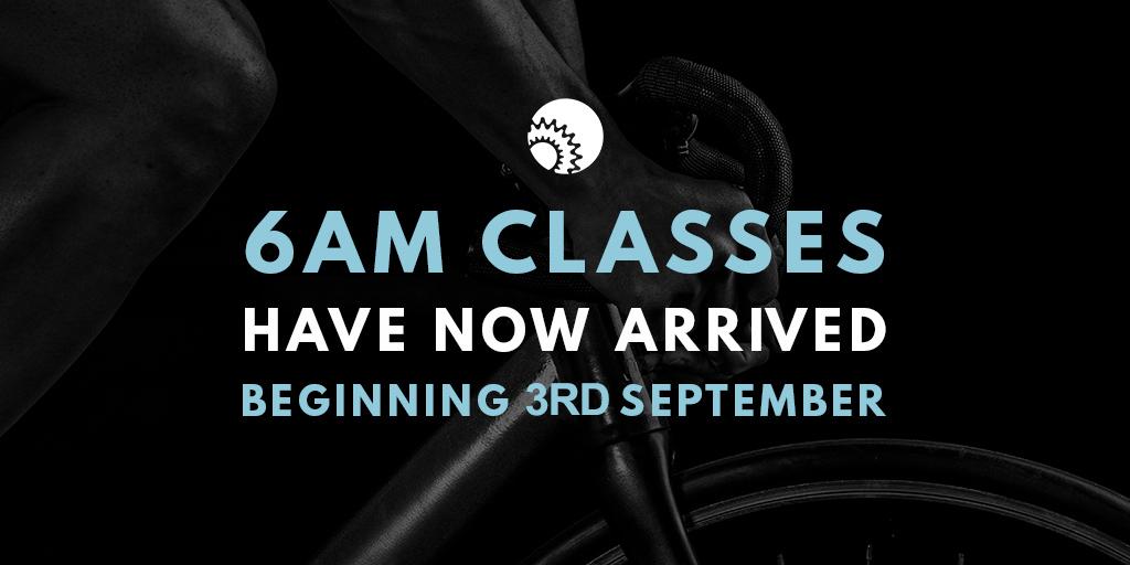 6am Monday-Friday classes begin